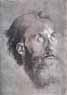 Albrecht Dürer, Head of an apostle looking upward