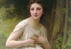 William Bouguereau (French, 1825-1905), Reflexion, detail