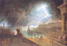 John Martin (British, 1789-1854), The Seventh Plague of Egypt